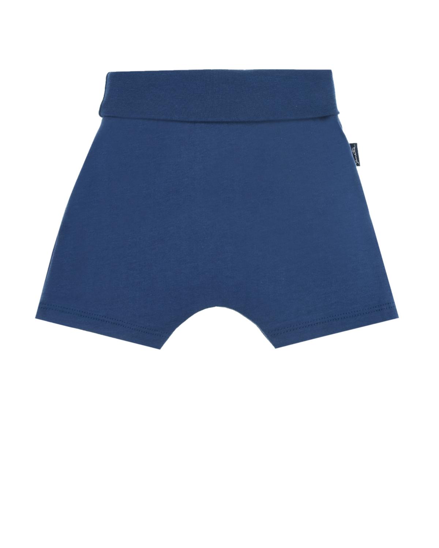 Купить Синие шорты с принтом краб Sanetta Kidswear детские, Синий, 100%хлопок