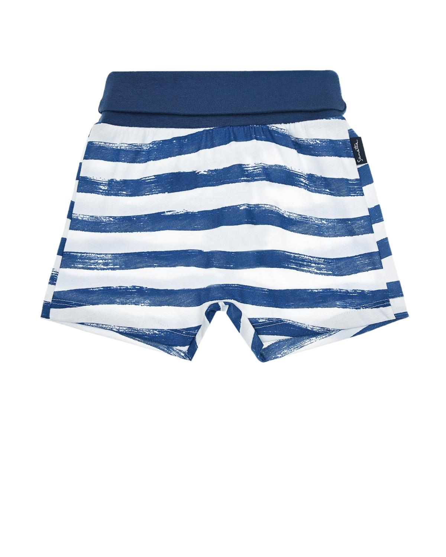 Купить Белые шорты в морскую полоску Sanetta Kidswear детские, Мультиколор, 100%хлопок