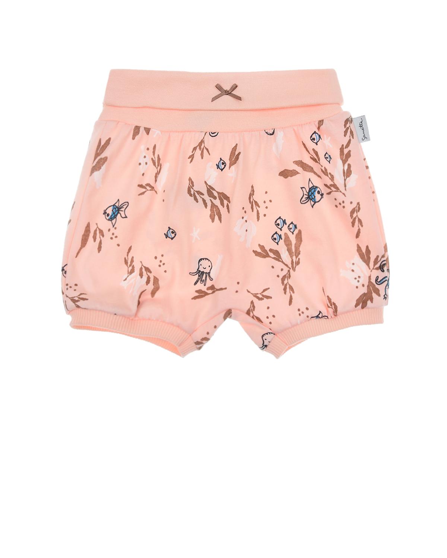 Купить Розовые шорты с морскими мотивами Sanetta Kidswear детские, Розовый, 100%хлопок