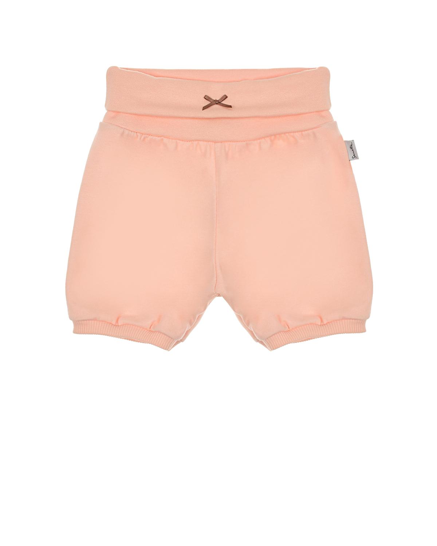 Купить Розовые шорты с бантом Sanetta Kidswear детские, Розовый, 100%хлопок