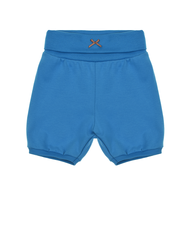 Купить Синие шорты с бантом Sanetta Kidswear детские, Синий, 100%хлопок