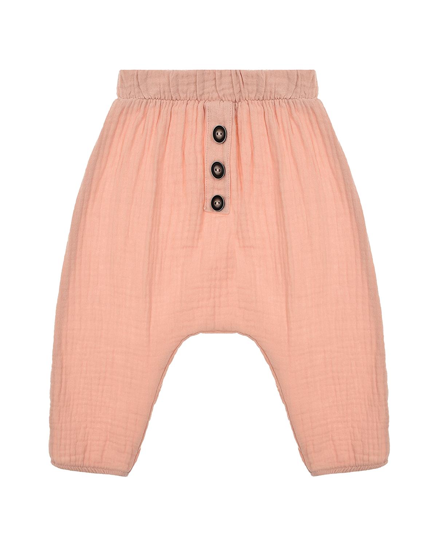 Купить Пудровые брюки их хлопка Sanetta Pure детские, Розовый, 100%хлопок