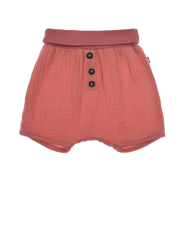 Шорты кораллового цвета Sanetta Pure детские, Оранжевый, 100%хлопок  - купить со скидкой