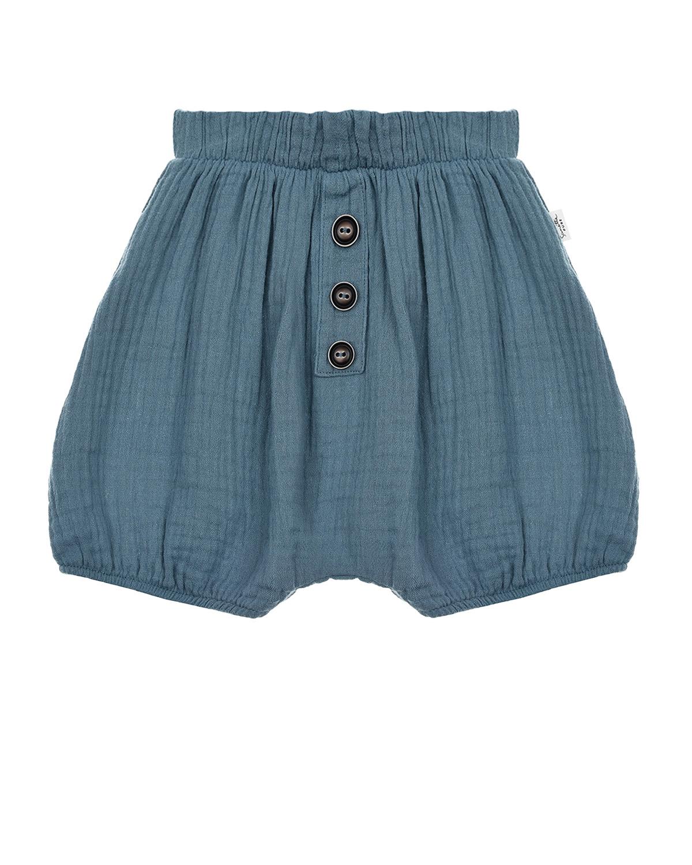 Купить Синие хлопковые шорты Sanetta Pure детские, Синий, 100%хлопок