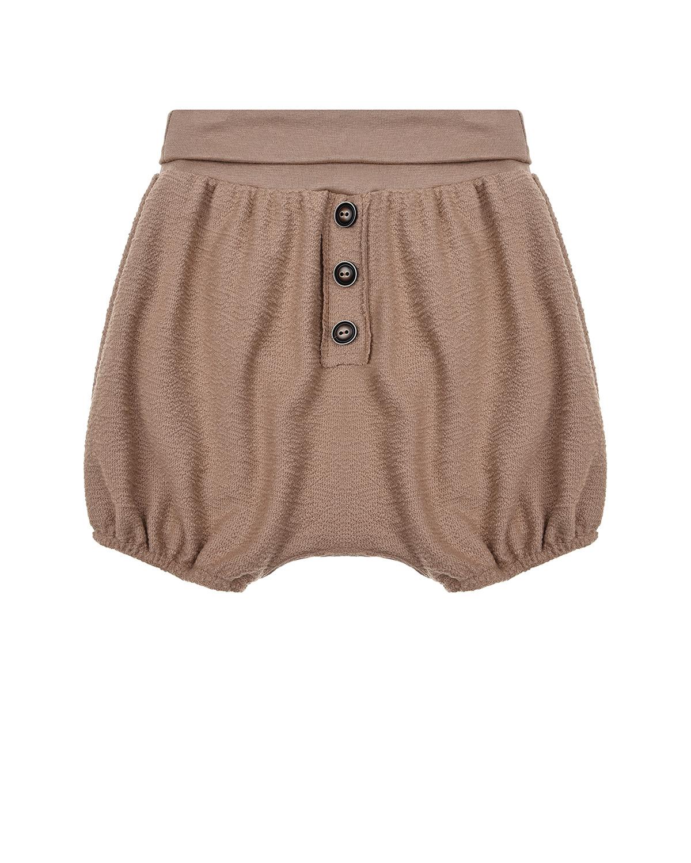 Купить Коричневые хлопковые шорты Sanetta Pure детские, Коричневый, 100%хлопок
