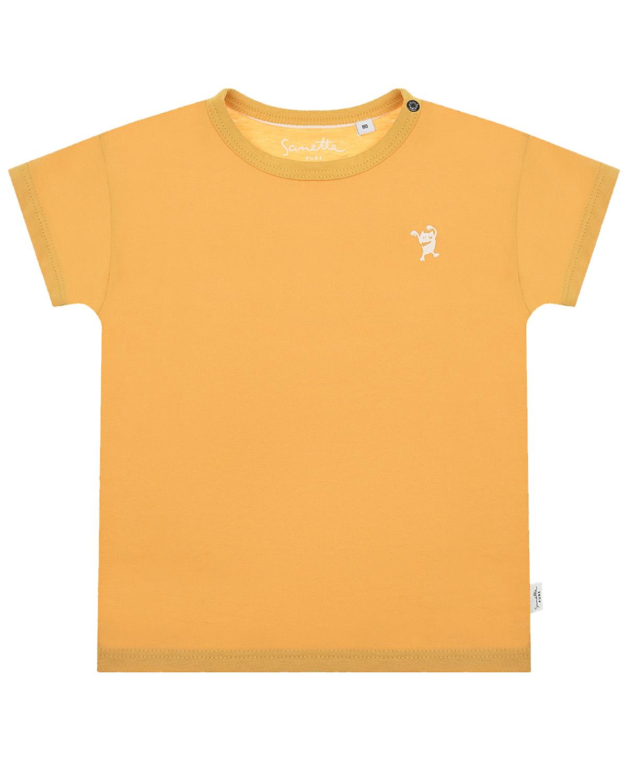 Купить Желтая футболка Sanetta Pure детская, Желтый, 100%хлопок
