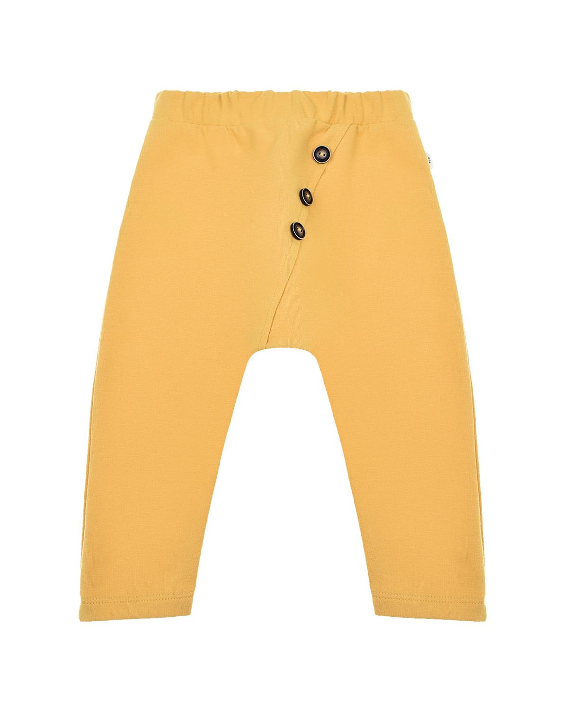 Купить Желтые спортивные брюки под памперс Sanetta Pure детские, Желтый, 95%хлопок+5%эластан