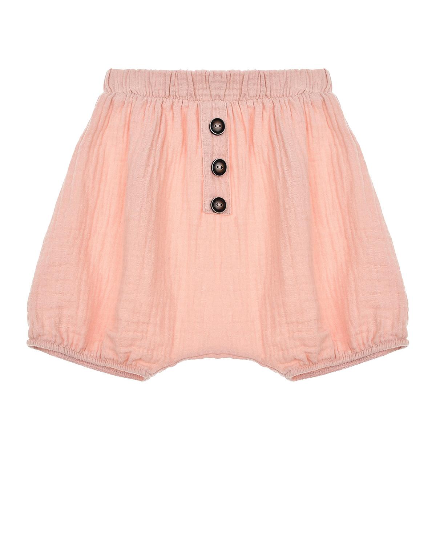 Купить Розовые хлопковые шорты Sanetta Pure детские, Розовый, 100%хлопок