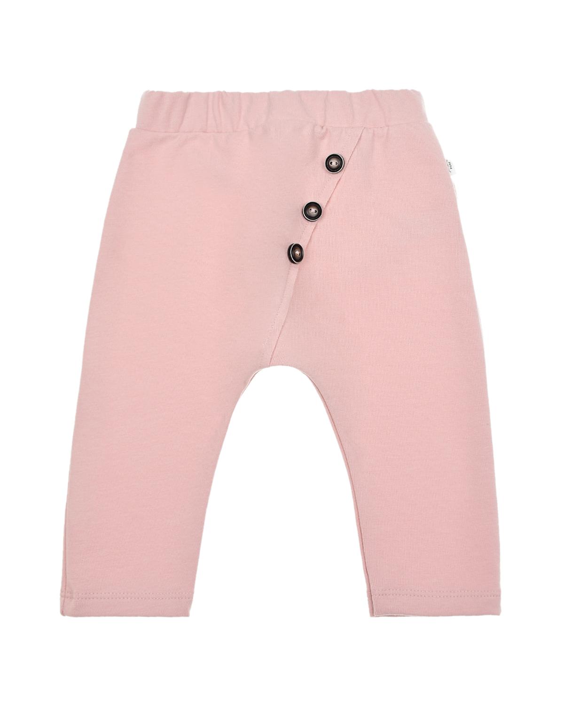 Купить Розовые спортивные брюки под памперс Sanetta Pure детские, Розовый, 95%хлопок+5%эластан