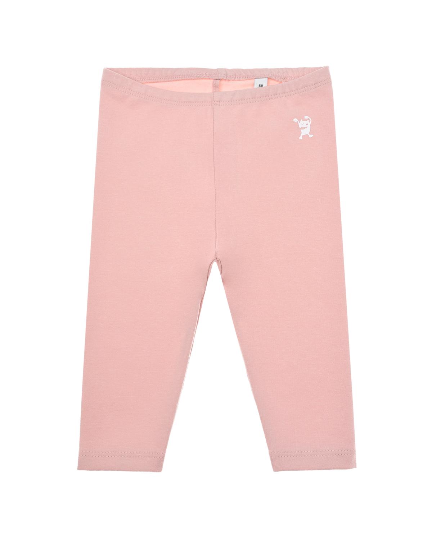 Купить Розовые леггинсы Sanetta Pure детские, Розовый, 95%хлопок+5%эластан