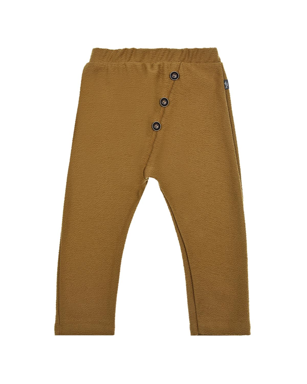 Купить Хлопковые брюки горчичного цвета Sanetta Pure детские, Песочный, 100%хлопок