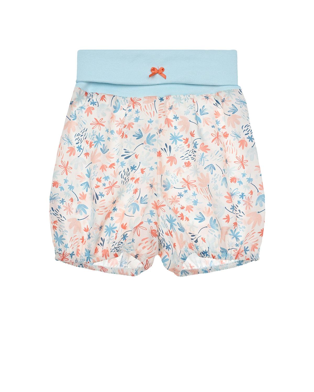 Купить Шорты с цветочным принтом Sanetta Kidswear детские, Мультиколор, 100% хлопок