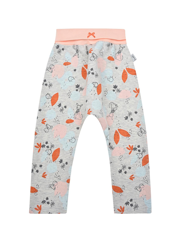 Купить Серые спортивные брюки с австралийским принтом Sanetta Kidswear детские, Серый, 95% хлопок+5% эластан