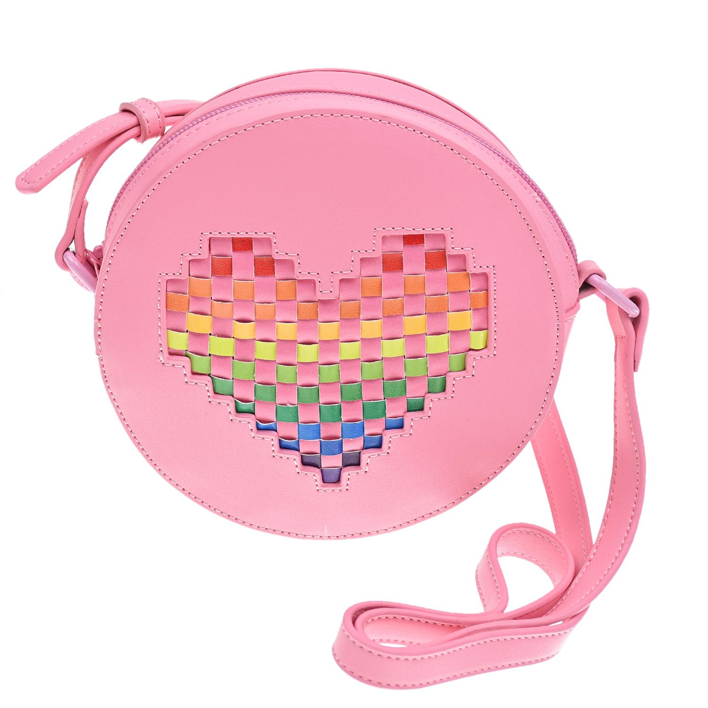 Купить Розовая круглая сумка 16х4, 5 см. Stella McCartney детская, Розовый, 100%полиуретан, 100%полиэстер