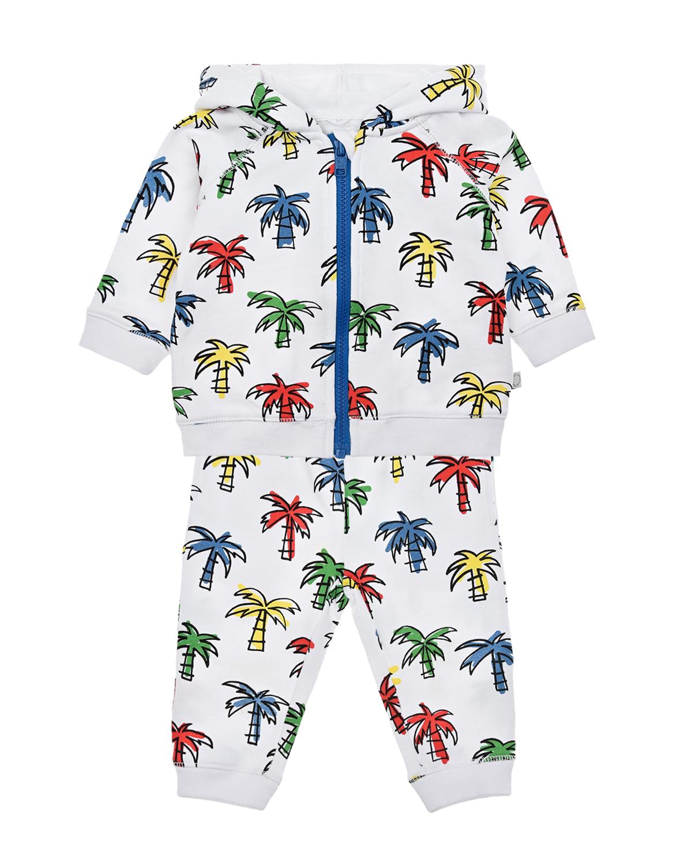 Купить Спортивный костюм с принтом Пальмы Stella McCartney детский, Белый, 100%хлопок. 100%хлопок