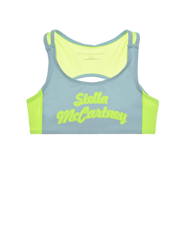 Купить Спортивный топ с логотипом Stella McCartney детский, Мультиколор, 85%полиамид+15%эластан, 84%полиамид+16%эластан