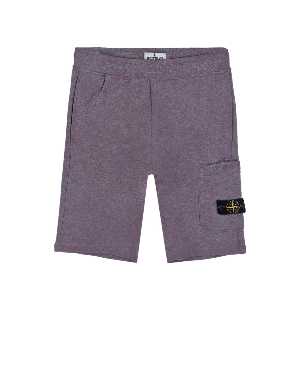 Купить Хлопковые бермуды с накладным карманом Stone Island детские, Розовый, 100% хлопок