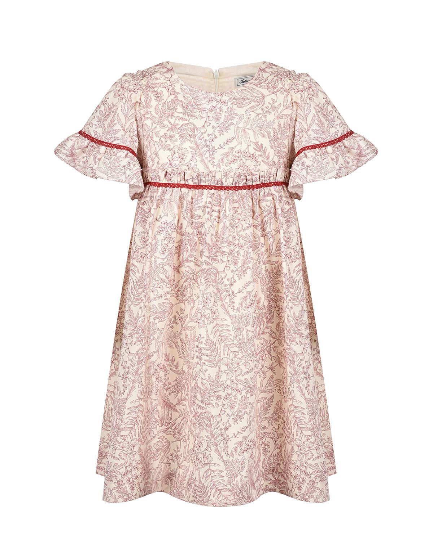 Купить Платье с ажурной тесьмой Tartine et Chocolat детское, Мультиколор, 100%хлопок