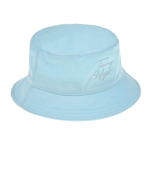Купить Голубая панама с логотипом Tommy Hilfiger детская, Голубой, 100% хлопок