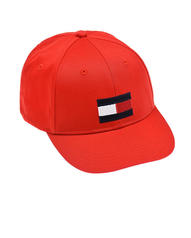 Купить Красная бейсболка с вышитым логотипом Tommy Hilfiger детская, Красный, 100% хлопок