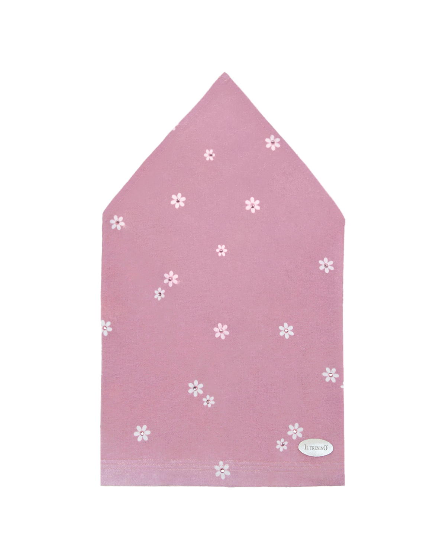 Купить Розовая косынка с принтом ромашки Il Trenino детская, Розовый, 95% хлопок+5% эластан