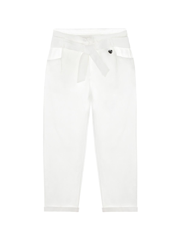 укороченные брюки twinset для девочки