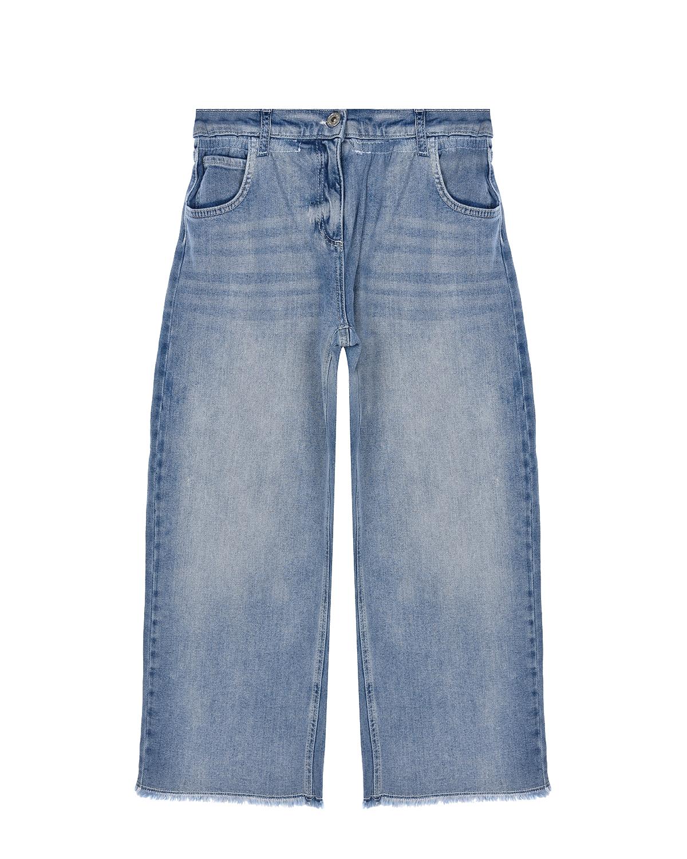Голубые укороченные джинсы TWINSET детские