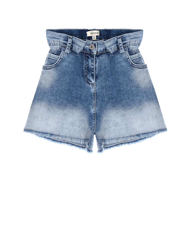 джинсовые шорты twinset для девочки