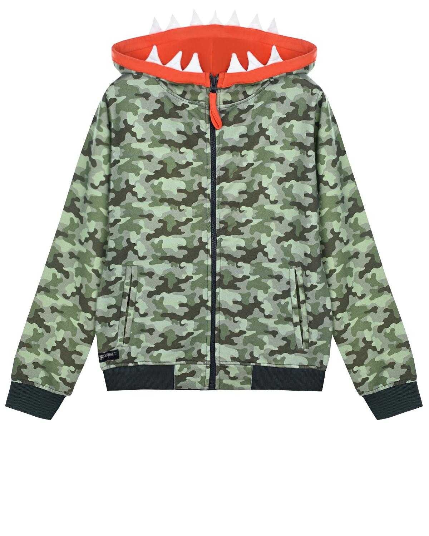 Купить Камуфляжная спортивная куртка Yporque детская, Зеленый, 70%хлопок+25%модал+5%эластан
