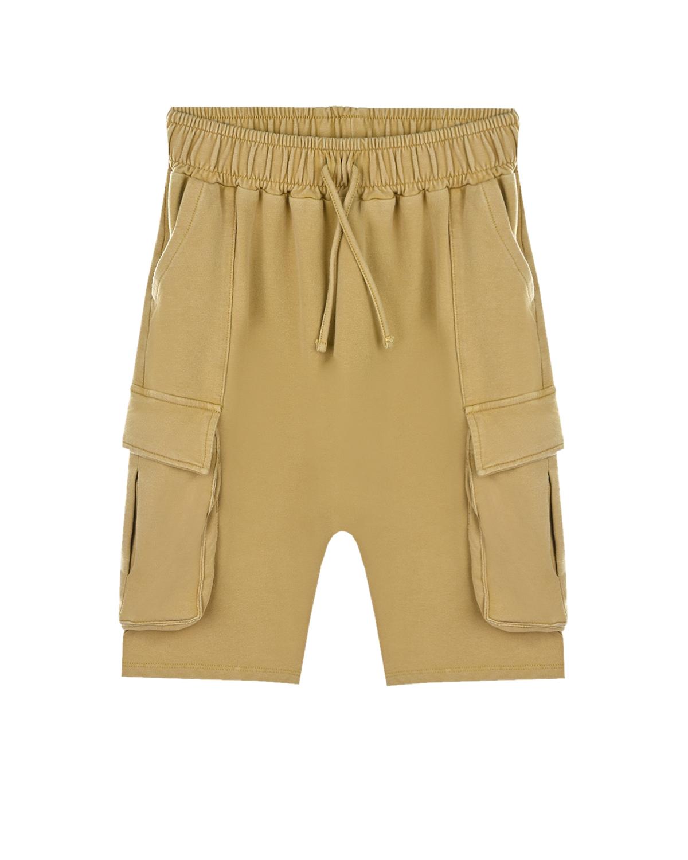 Купить Бежевые шорты с карманами-карго Yporque детские, Бежевый, 70%хлопок+25%модал+5%эластан