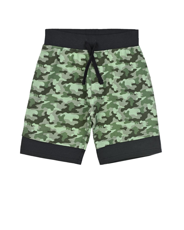 Купить Зеленые камуфляжные шорты Yporque детские, Зеленый, 70%хлопок+25%модал+5%эластан
