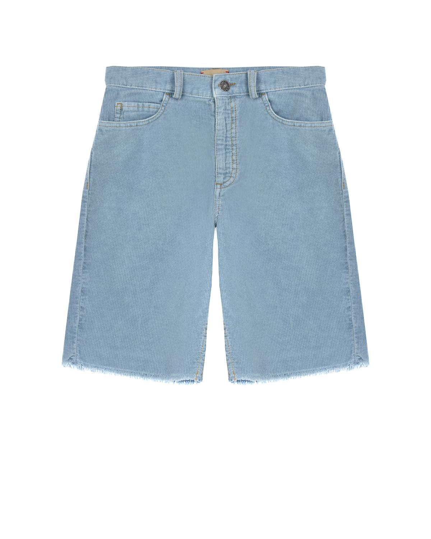 Голубые вельветовые шорты GUCCI детские, Голубой, 100%хлопок, 95%полиэстер+5%вискоза  - купить со скидкой
