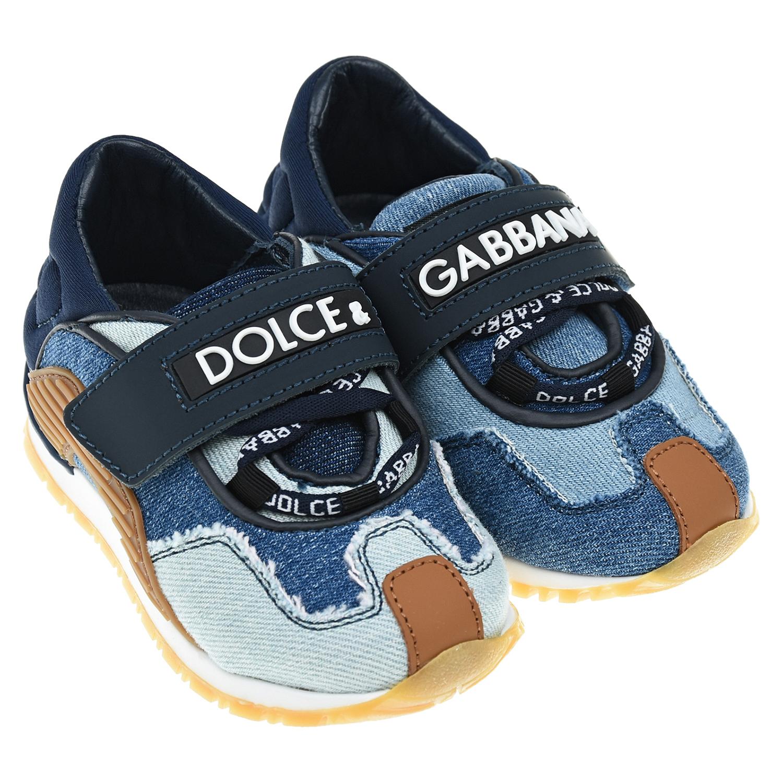 джинсовые кроссовки dolce & gabbana для девочки