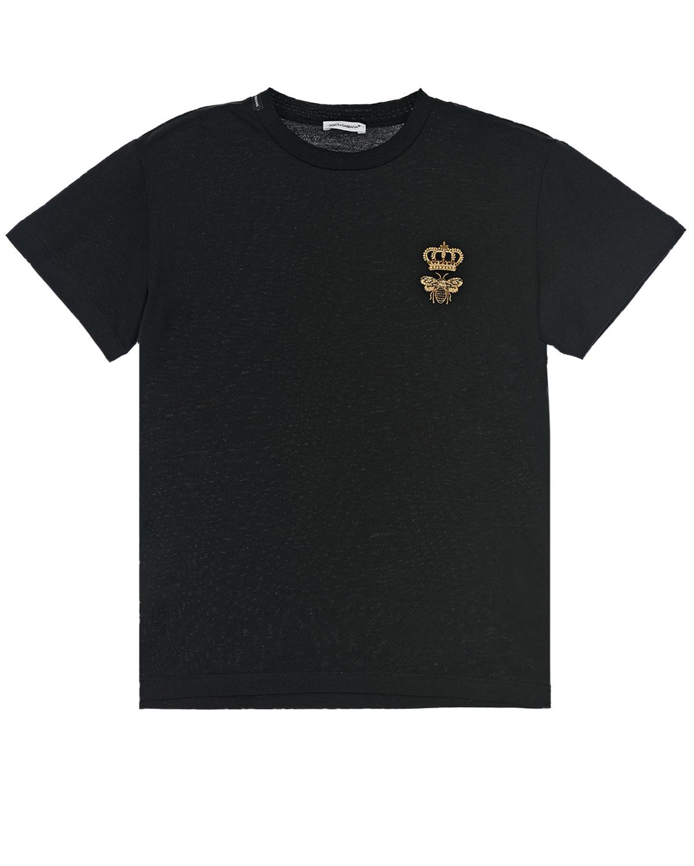 футболка с круглым вырезом dolce & gabbana для мальчика
