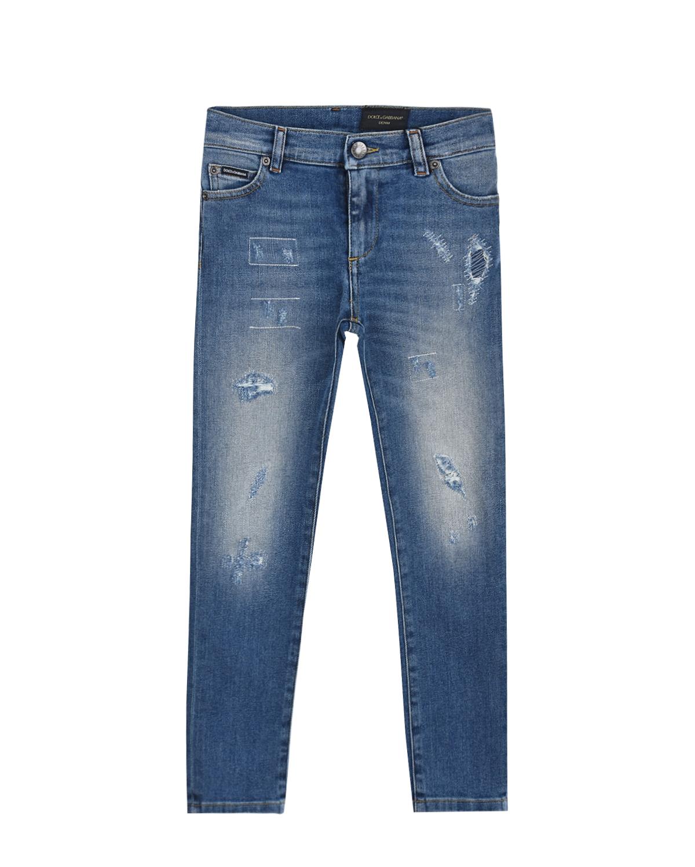 потертые джинсы dolce & gabbana для мальчика