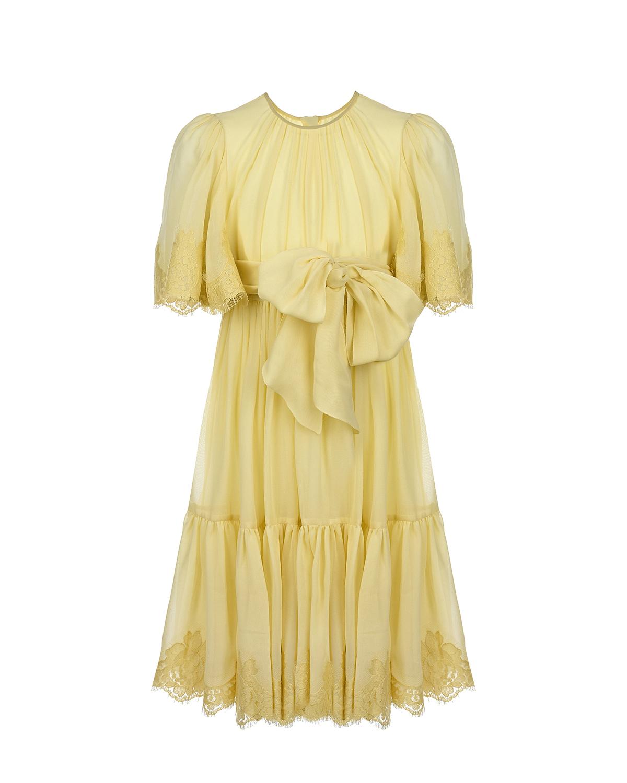 шелковые платье dolce & gabbana для девочки
