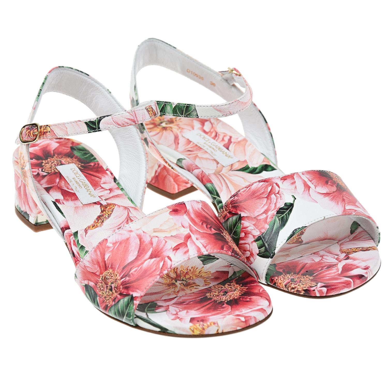 босоножки на каблуке dolce & gabbana для девочки