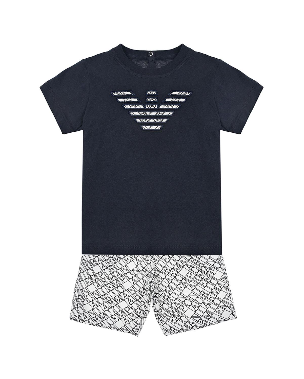 Комплект для мальчиков из футболки и шорт Emporio Armani детский