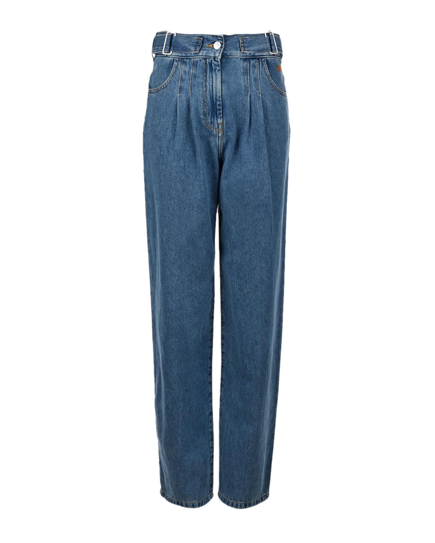 женские джинсы с высокой посадкой msgm