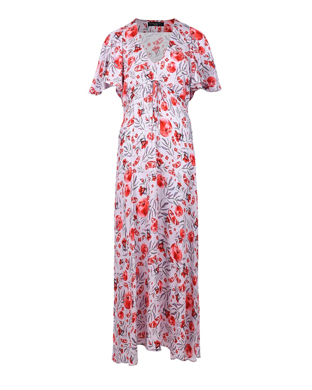 Платье для беременных с завязкой под грудью Pietro Brunelli красного цвета