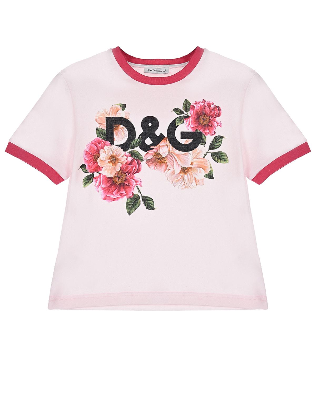 футболка с принтом dolce & gabbana для девочки