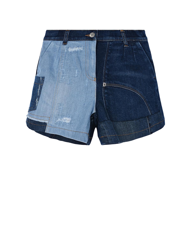 Купить Синие джинсовые шорты Dolce&Gabbana детские, Синий, 98%хлопок+2%эластан