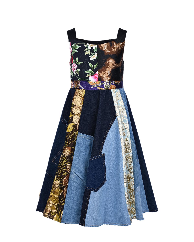 джинсовые платье dolce & gabbana для девочки