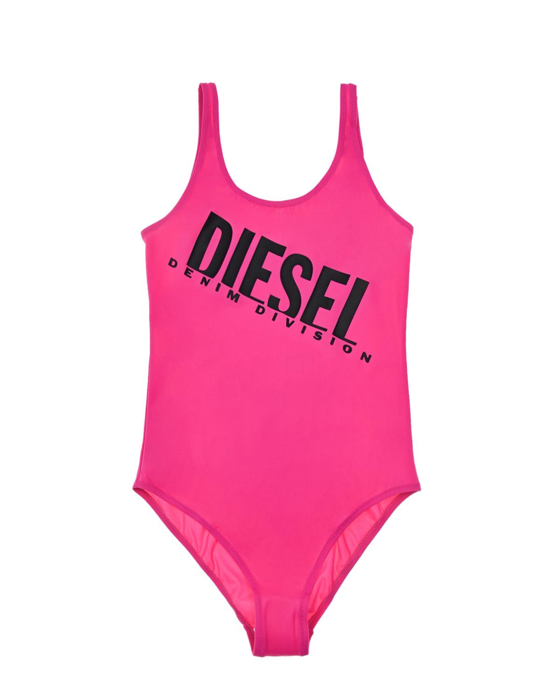 Купить Слитный купальник цвета фуксии Diesel детский, Нет цвета, 80%нейлон+20%эластан, 100%нейлон