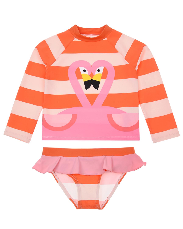 Купить Купальный комплект с принтом фламинго Stella McCartney детский, Мультиколор, 78%полиамид+22%эластан, 100%полиэстер