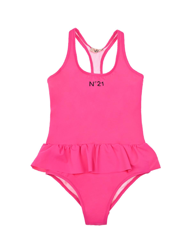 Купить Розовый купальник с лого No. 21 детский, 80%нейлон+20%эластан, 80%полиамид+20%эластан, 100%нейлон, 100%полиамид
