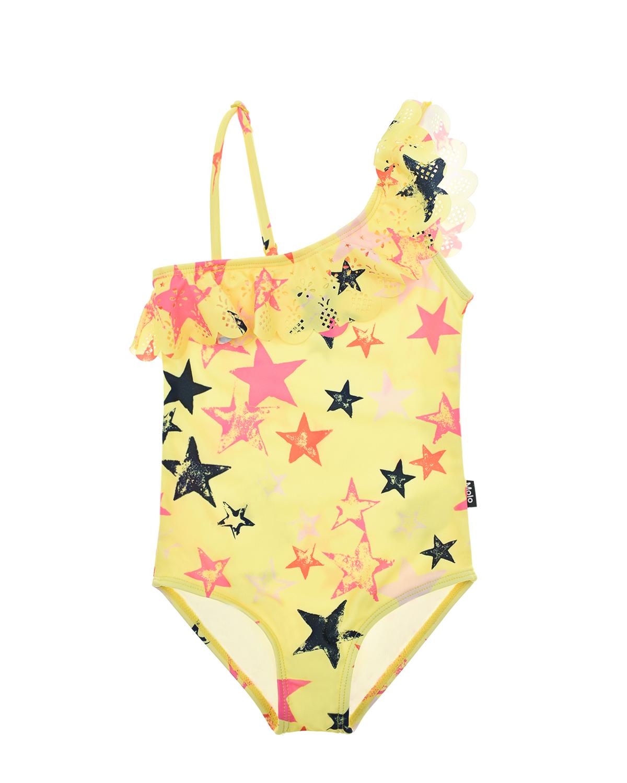 Купить Желтый купальник Net Multi Star Molo детский, 86%полиэстер+14%эластан, 85%нейлон+15%эластан