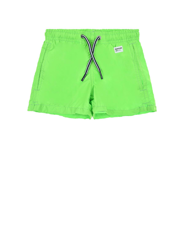 Купить Зеленые шорты для купания Saint Barth детские, Зеленый, 100%полиэстер, 94%полиамид+6%эластан