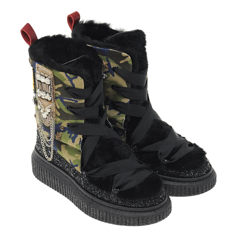 Высокие утепленные ботинки Simon Scott