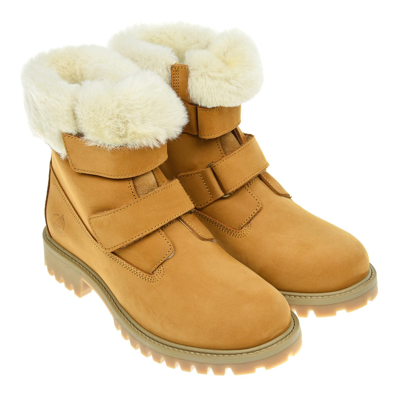 Купить со скидкой Ботинки с меховым утеплителем